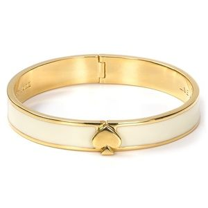 Kate Spade Spade Bangle White